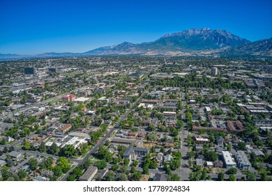 Aerial View of Downtown Provo during Summer
