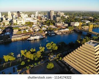 Aerial View of Downtown Sacramento