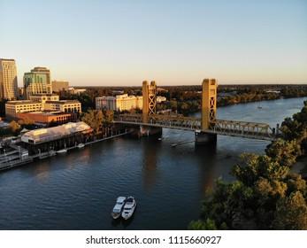 Aerial View of Downtown Sacramento CA