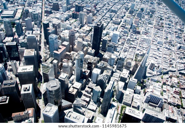 An aerial view of downtown San Francisco.