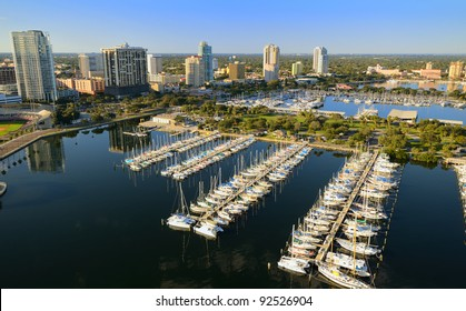 Aerial view of downtown St. Petersburg, Florida