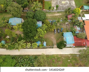 Aerial view or drone shot of Island Garden City of Samal, Davao, Philippines