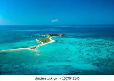 Aerial view of Dry Tortugas National Park, Fort Jefferson. Florida. USA.
