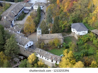 Aerial view of Dryanovo Monastery St. Archangel Michael near the town of Dryanovo in Bulgaria