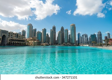 Aerial view of Dubai skyline, UAE.