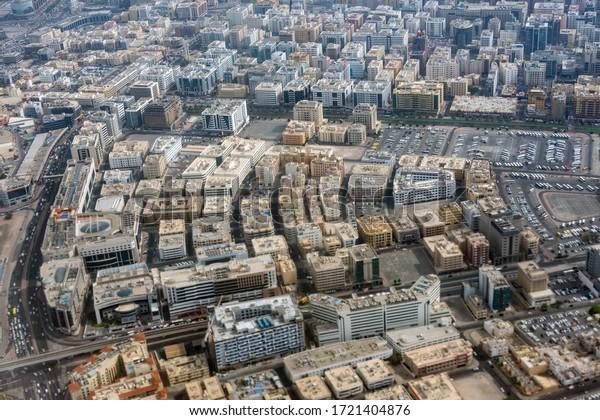 Aerial view from Dubai, UAE.