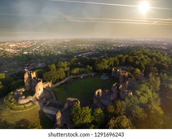 Aerial view of Dudley, UK