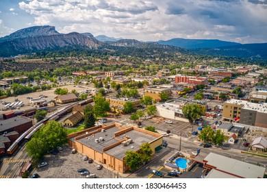 Aerial View of Durango, Colorado in Summer