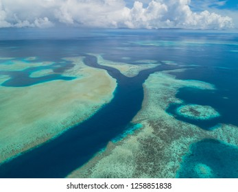 Aerial view of Ebiil Channel Marine Protected Area in Palau
