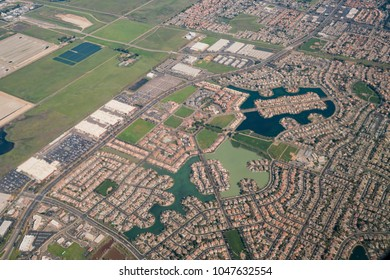 Aerial view of the Elk Grove area, Sacramento County, California