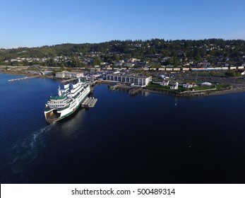 Aerial view of Elliot point, Lighthouse Park and Mukilteo Beach
