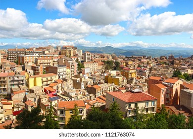 Aerial view of Enna, Sicily, Italy