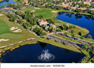 aerial view of entrance to florida golf park
