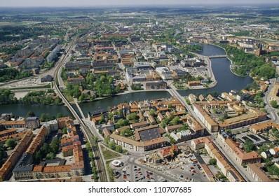 Aerial view of Eskilstuna in Sweden