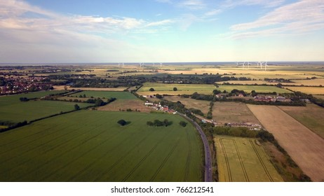 Aerial view of essex countryside