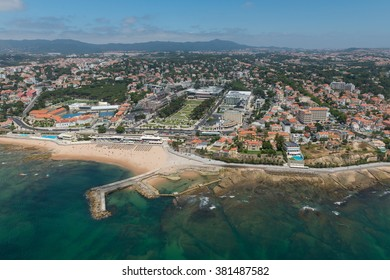 Aerial view of Estoril and its casino, Portugal
