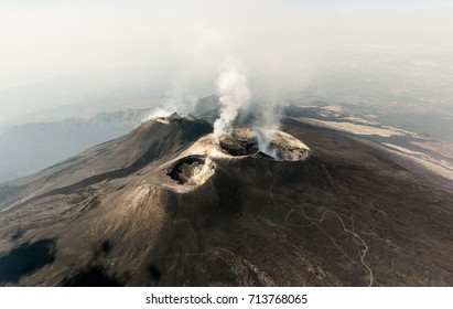 Aerial view of the Etna volcano in Sicily