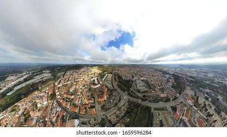 Aerial view in Evora. Alentejo,Portugal. Drone Photo