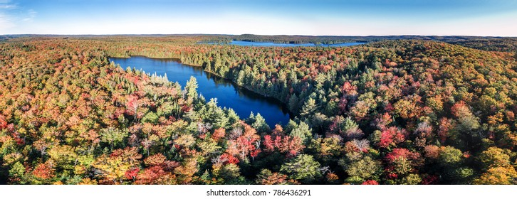 Aerial View Of Fall Lakes