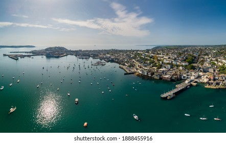 Aerial view of Falmouth town, Cornwall