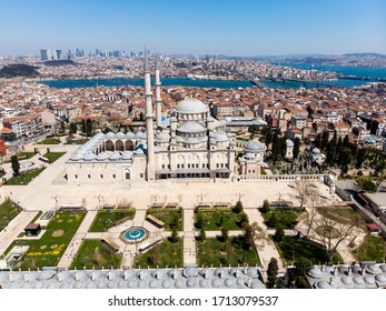 Aerial view of Fatih Mosque, Istanbul, Turkey