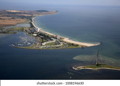aerial view of Fehmarn, Baltic Sea, Germany