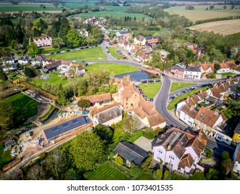 Aerial view of Finchingfield green - Essex Village