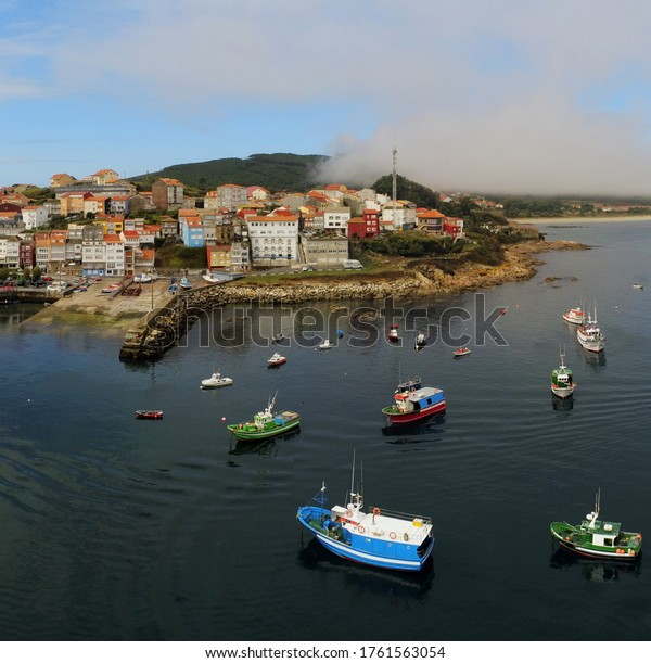 Aerial view in Finisterre. Galicia,Spain. Drone Photo