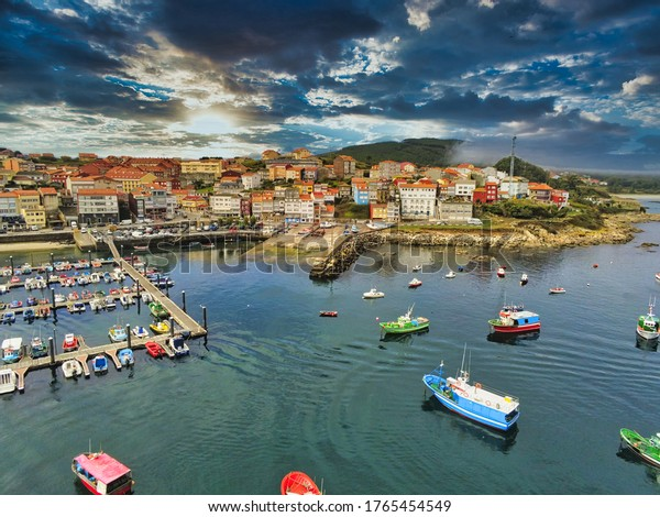 Aerial view in Finisterre. Galicia,Spain. Drone Photo,