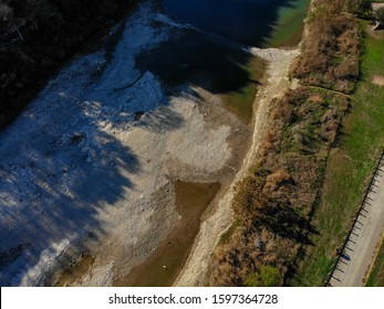 Aerial View of Five Mile Dam San Marcos TX