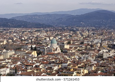 aerial view of florence take from duome of florence