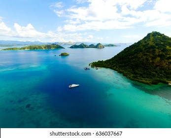 Aerial view from Flores Island, Indonesia labuan Bajo