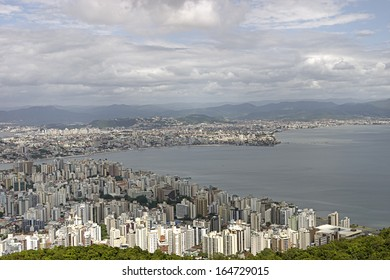 Aerial view of Florianopolis - Santa Catarina - Brazil