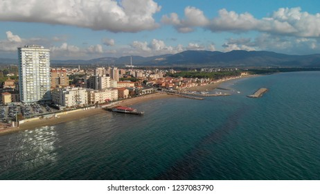 Aerial view of Follonica, Tuscany.