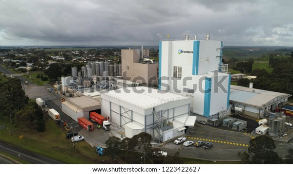 Aerial View Fonterra Milk Processing Factory Stock Photo