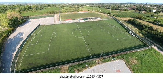 aerial view football field 'panoramic'