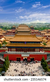 Aerial view of  the Forbidden City. Beijing, China