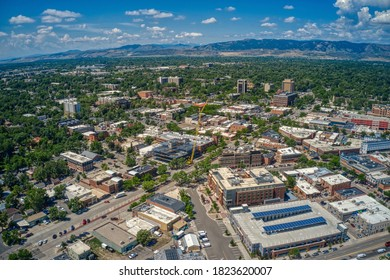 Aerial View of Fort Collins, Colorado during Summer
