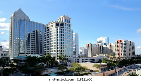 Aerial view of Fort Lauderdale's downtown skyline