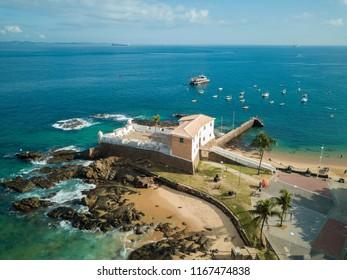 Aerial view of the Fort of Santa Maria in Salvador Bahia