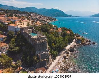 aerial view of forte mare in herceg novi montenegro. summer vacation concept - Shutterstock ID 1303001989