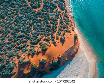 Aerial View of Francois Peron, Shark Bay, Western Australia