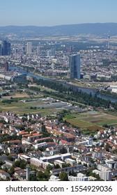 Aerial view of Frankfurt , Germany
