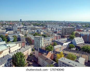 Aerial view of Frankfurt am Main in Germany