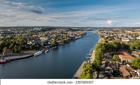Aerial view of Fredrikstad, Norway