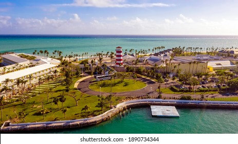Aerial view of Freeport Port Lucaya on Grand Bahama Island