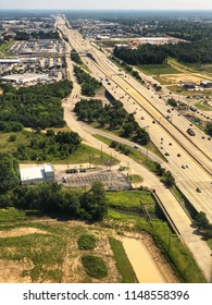 Aerial View of freeway in Houston Texas