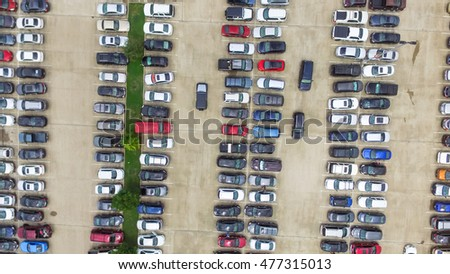 Car Lots In Houston >> Aerial View Full Cars Large Outdoor Stock Photo Edit Now 477315013