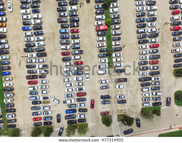 Car Lots In Houston >> Aerial View Full Cars Large Outdoor Stock Photo Edit Now