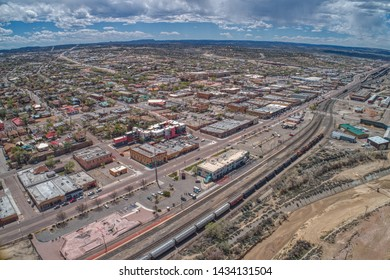 Aerial View of Gallup, New Mexico on Interstate 40